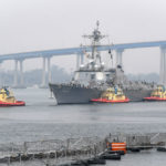 USS Kidd prepares to dock in San Diego