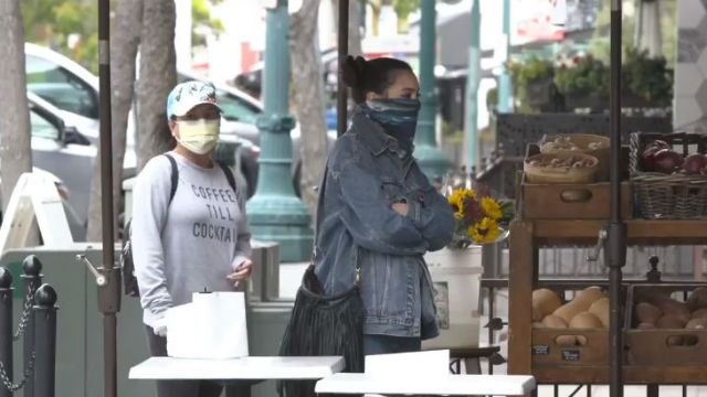 Women wearing face masks