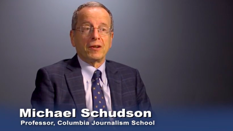Columbia Journalism Professor Michael Schudson speaks on the the public's right to know in YouTube video. He taught at UC San Diego for decades. Image via YouTube.com
