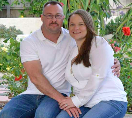 Charles Thacker with his wife, Symantha Thacker, in Facebook photo.