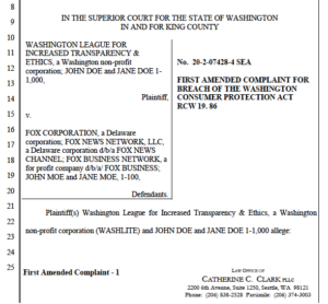 WASHLITE's amended complaint against Fox News.