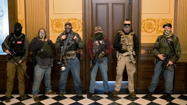 Armed lockdown protesters