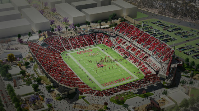 Architect's rendering of the planned stadium