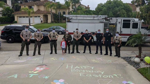 Deputies wish happy birthday to a San Marcos boy