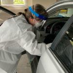 Drive-up coronavirus testing in San Diego County