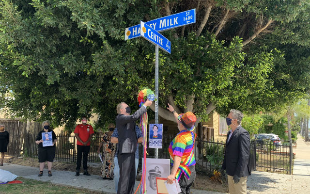 Mayor Kevin Faulconer places wreath in honor of Harvey Milk's 90th birthday
