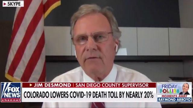 Supervisor Jim Desmond on Fox News