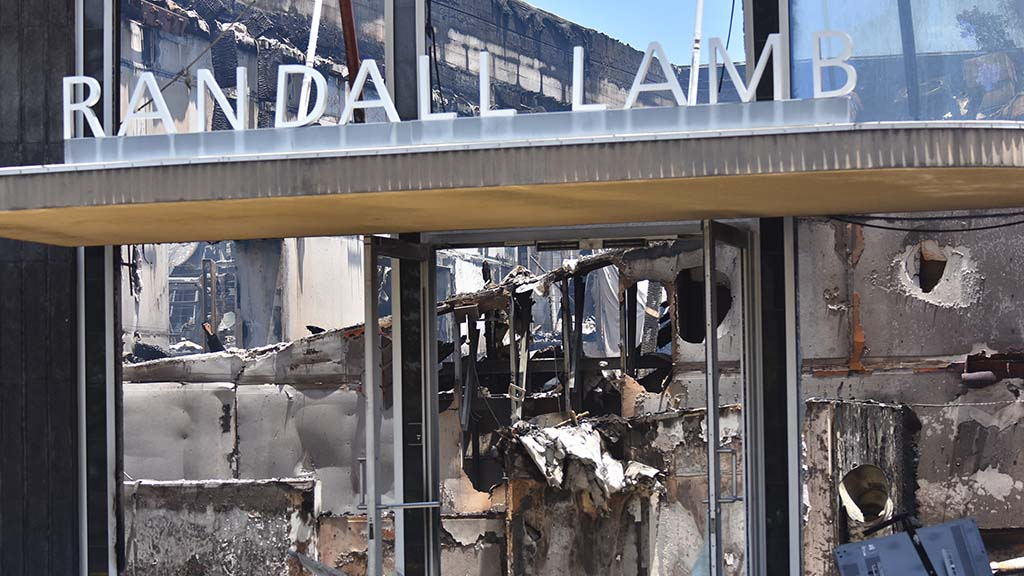 Randall Lamb, a consulting engineer company, was gutted by fire by protesters. It was a La Mesa historical building.