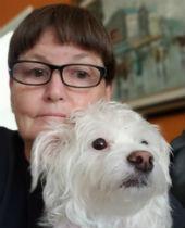 Linda Kraus and her dog