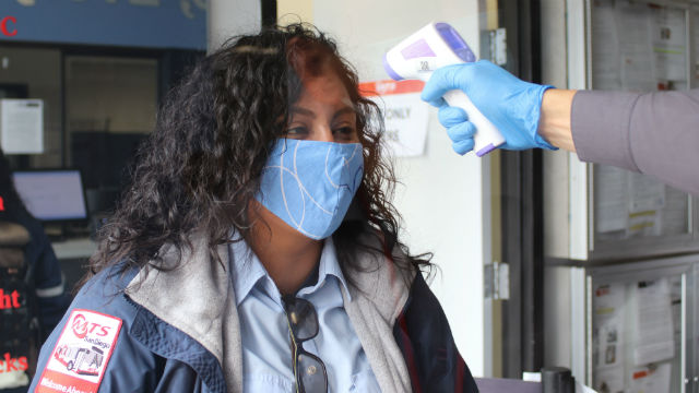 MTS bus operator checked for coronavirus symptoms
