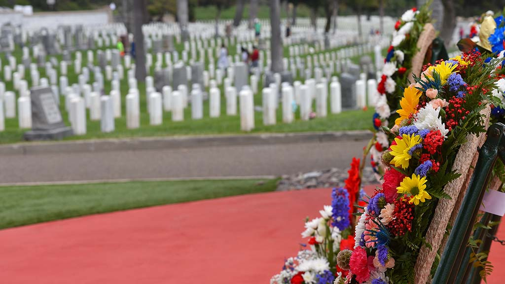 Wreaths representing all branches of the military were lain at Fort Rosecrans National Cemetery on Memorial Day.
