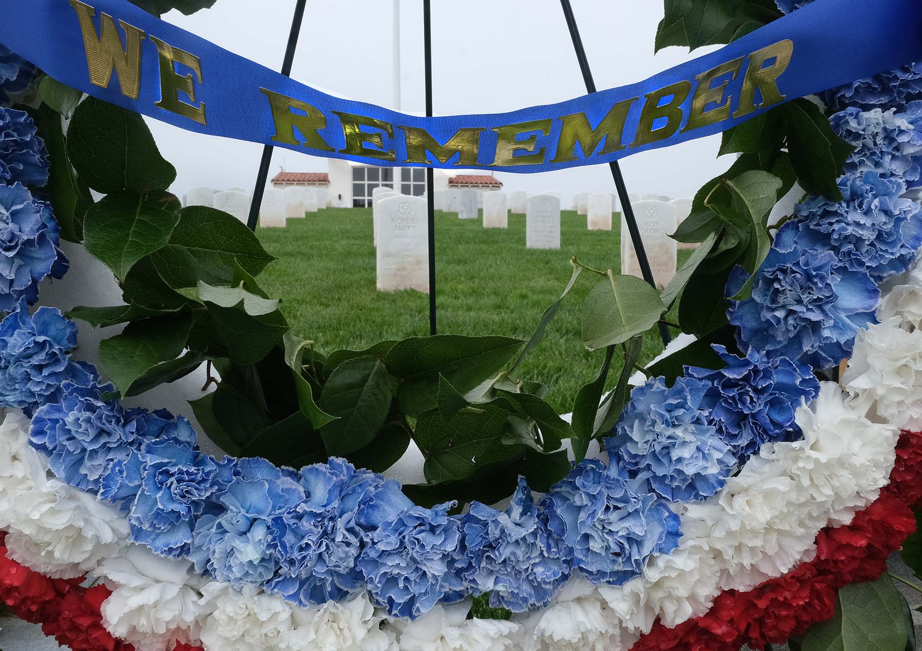 Wreaths were placed at Fort Rosecrans National Cemetery to honor those who lost their lives while serving in the military.