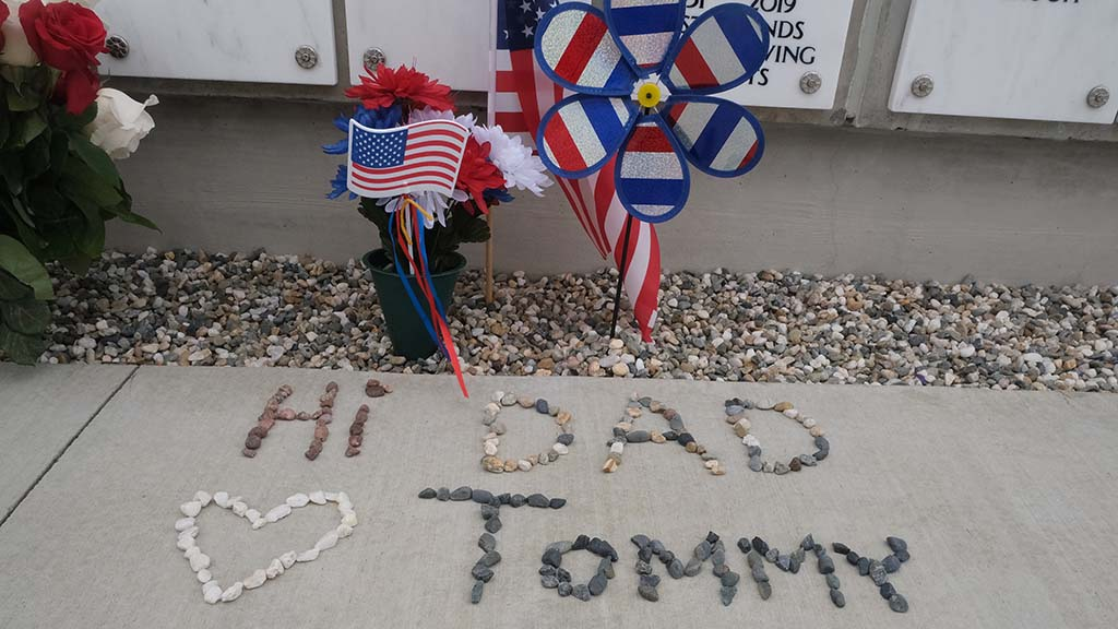 A man paid tribute to his father on Memorial Day at Fort Rosecrans National Cemetery.