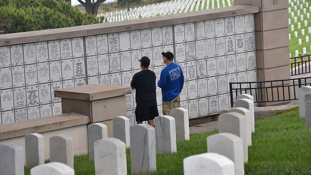 Family and friends paid their respects at Fort Rosecrans National Cemetery on Memorial Day.