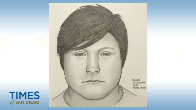 Police sketch of the assault suspect