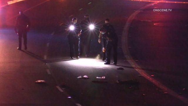 San Diego Police examine crime scene