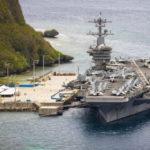 USS Theodore Roosevelt docked in Guam