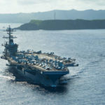 The USS Theodore Roosevelt in the Philippine Sea