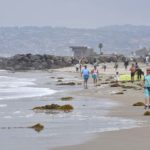 Ocean Beach was sparsely populated during the mid-day overcast of Memorial Day.