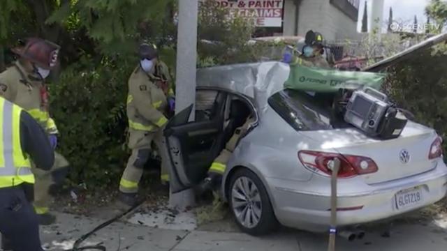 Crash scene in Spring Valley
