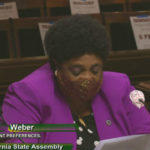 Assemblymember Shirley Weber in a face covering