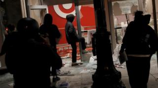 Looting at Target