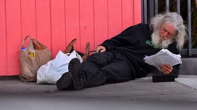 A homeless person in Coronado