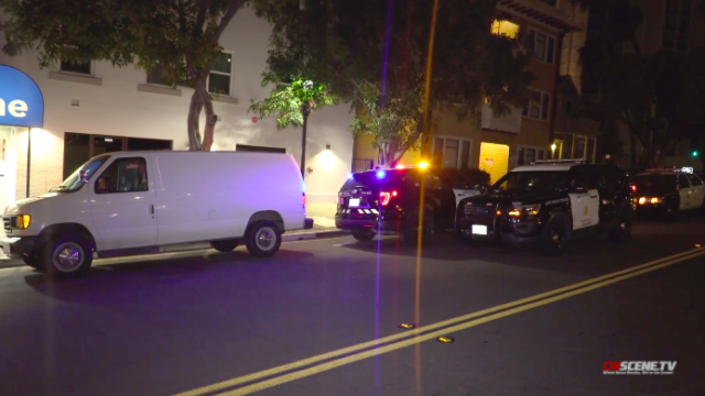 San Diego police at scene of incident in Cortez Hill area.
