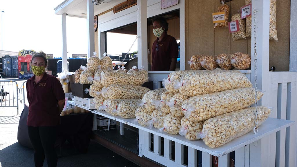 Kettle Corn, which is sold at fairground events throughout the year, was the first food to be offered to fair food fans.