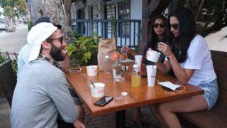 Relatives enjoy patio dining at En Fuego Cantina in Del Mar.