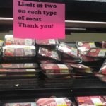 A Vons grocery store is limiting the amount of meat customers can buy amid meat packing plants closings.