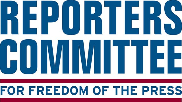 "Logo of Reporters Committee for Freedom of the Press, a group created in 1970 ""at a time when the nation's news media faced a wave of government subpoenas asking reporters to name confidential sources."""