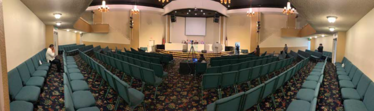 Lawsuit says South Bay Pentecostal Church has plenty of room for social distancing.