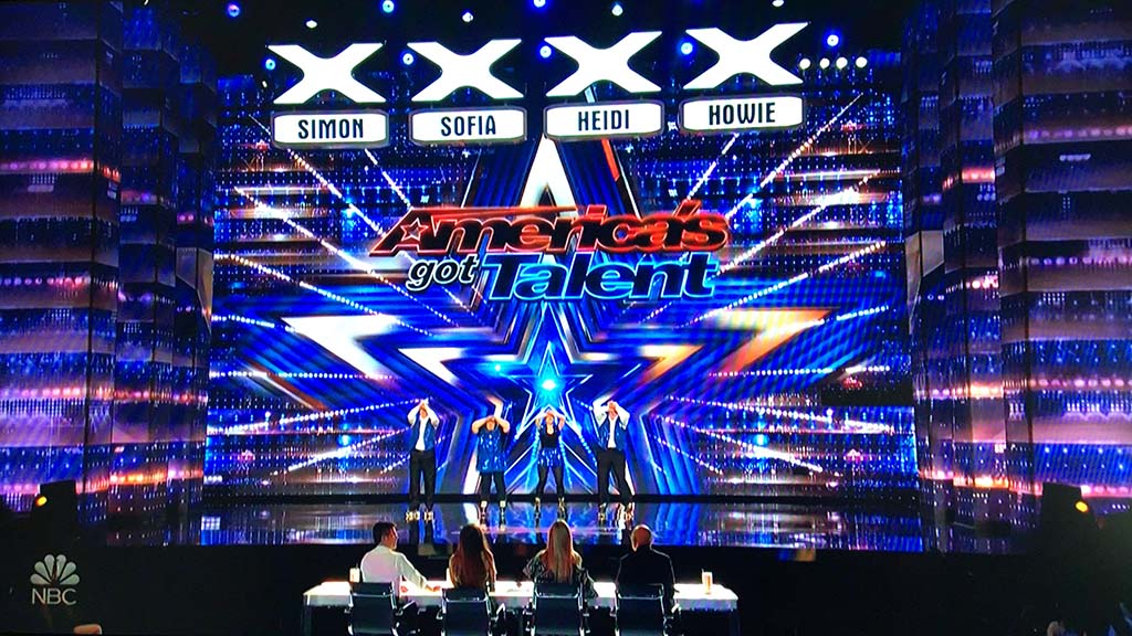 "San Diego's Old School Skaters begin a routine that drew boos from thousands in a Pasadena audience for ""America's Got Talent."""