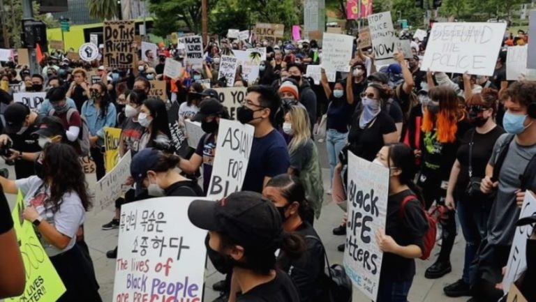 Asians for Black Lives protest in Los Angeles