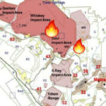 Map shows location of fires on Camp Pendleton