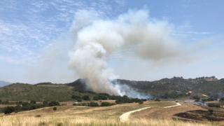 Fire at Camp Pendleton