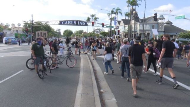 Protesters in Carlsbad
