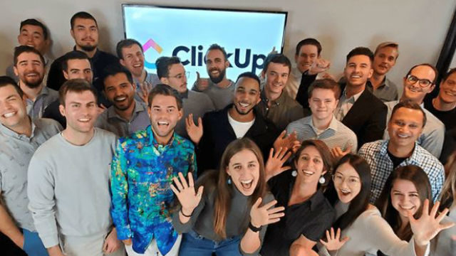 Members of the ClickUp team