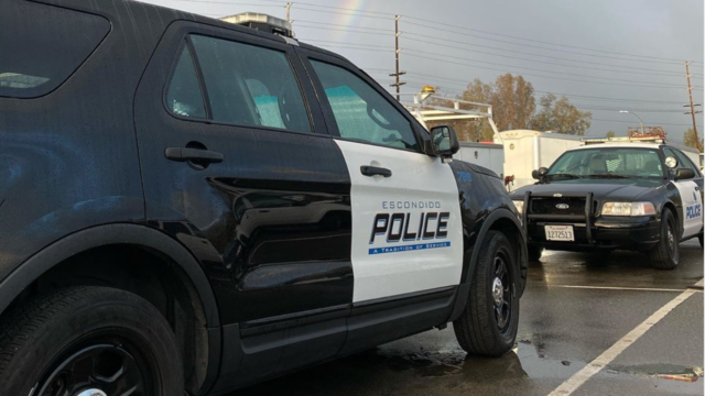 Escondido police vehicles