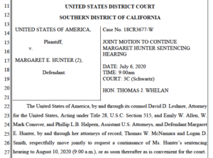 Latest request for sentencing delay. (PDF)