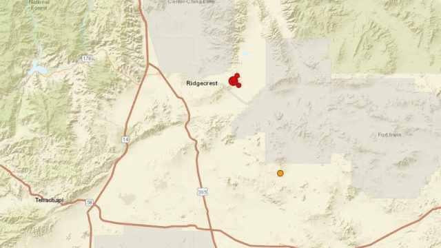 Map shows location of earthquake