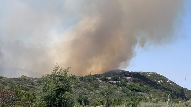 Flames from Skyline Fire