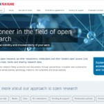 Springer Nature web page