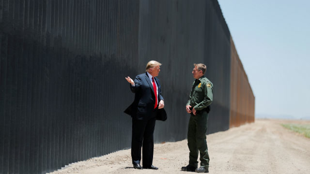 President Trump at the border wall in Arizona