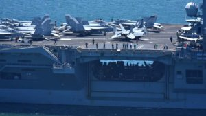 The USS Nimitz based in Bremerton, Washington conducted training in the San Diego area and left for deployment June 8.