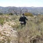 A Border Patrol agent in the Otay Mountain wilderness