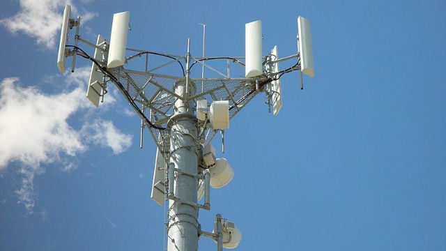 Antennas on a cellular tower