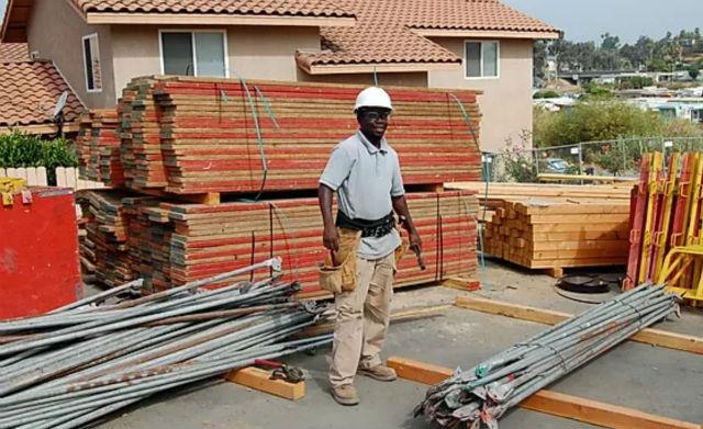 A contractor at a job site