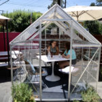 Greenhouse dining pod